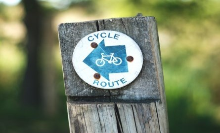 Trail route sign